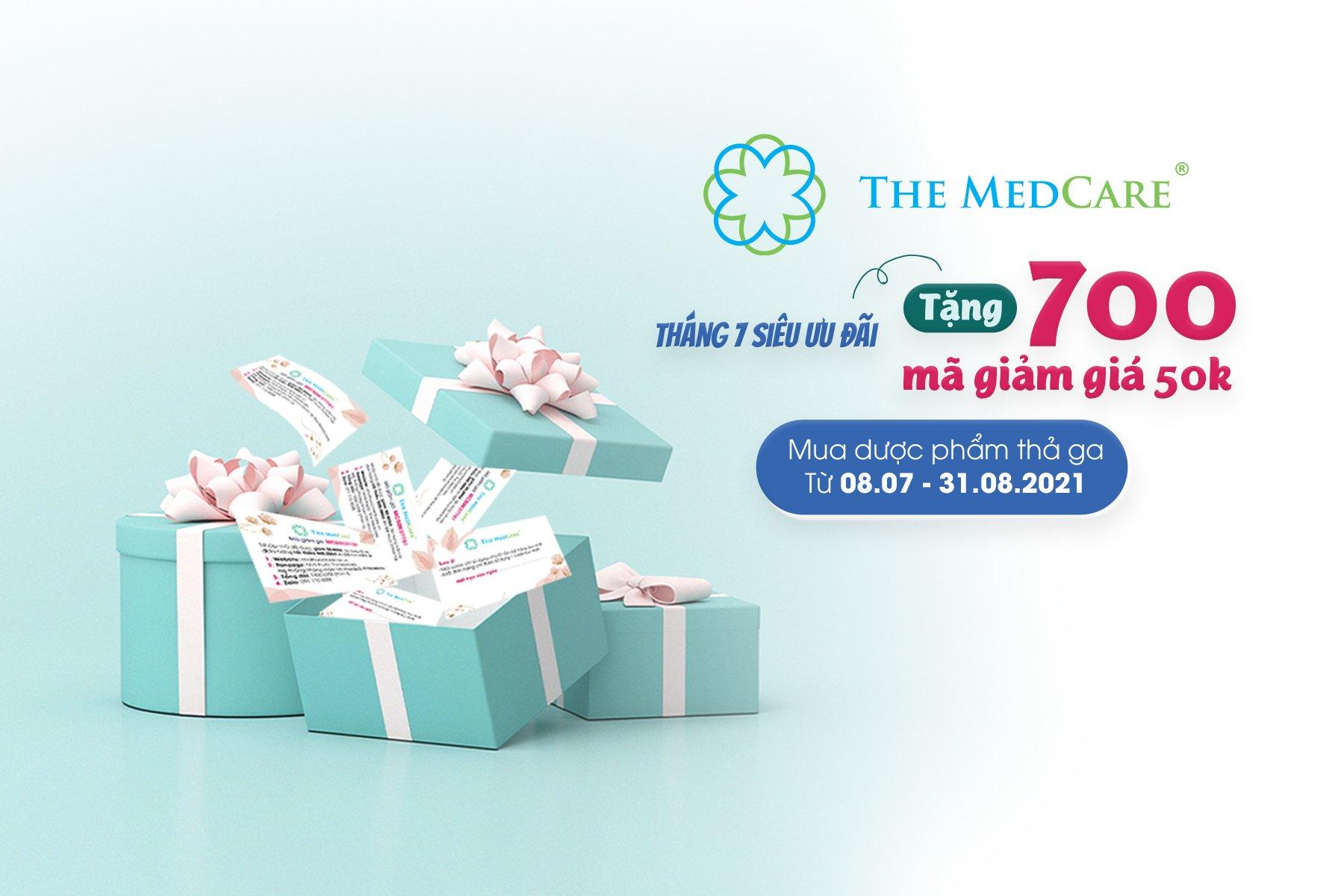 Tháng 7 ưu đãi - Tặng 700 mã giảm giá 50k, mua dược phẩm thả ga
