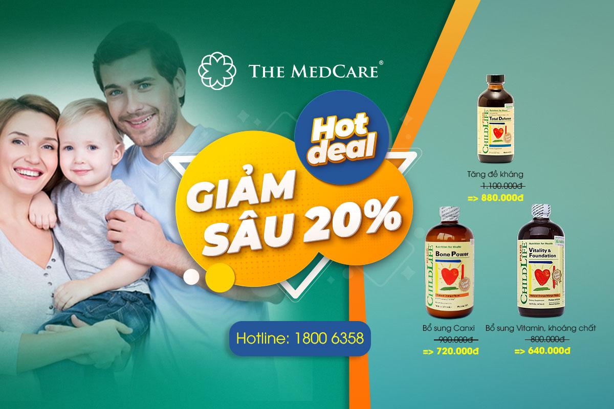 Deal siêu hot - giảm giá sâu - 20% các sản phẩm  Childlife Plus