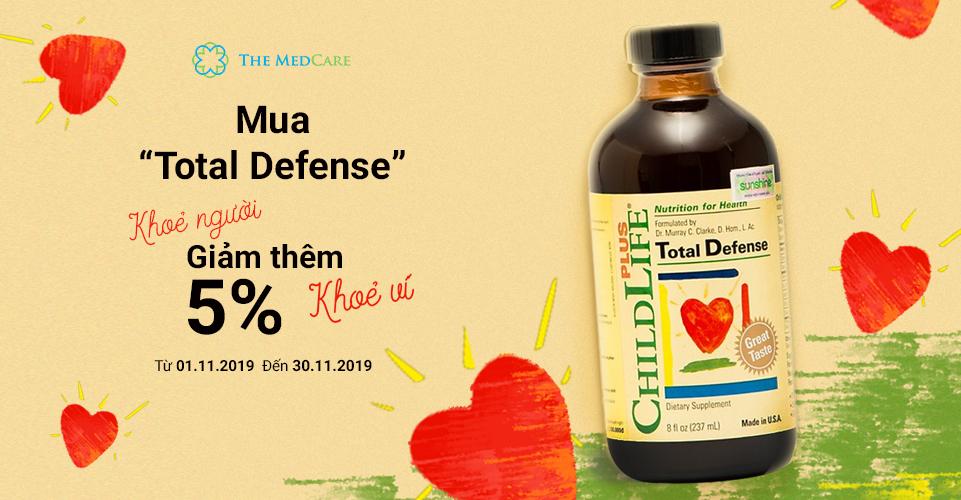 Mua Total Defense khỏe người-giảm thêm 5%